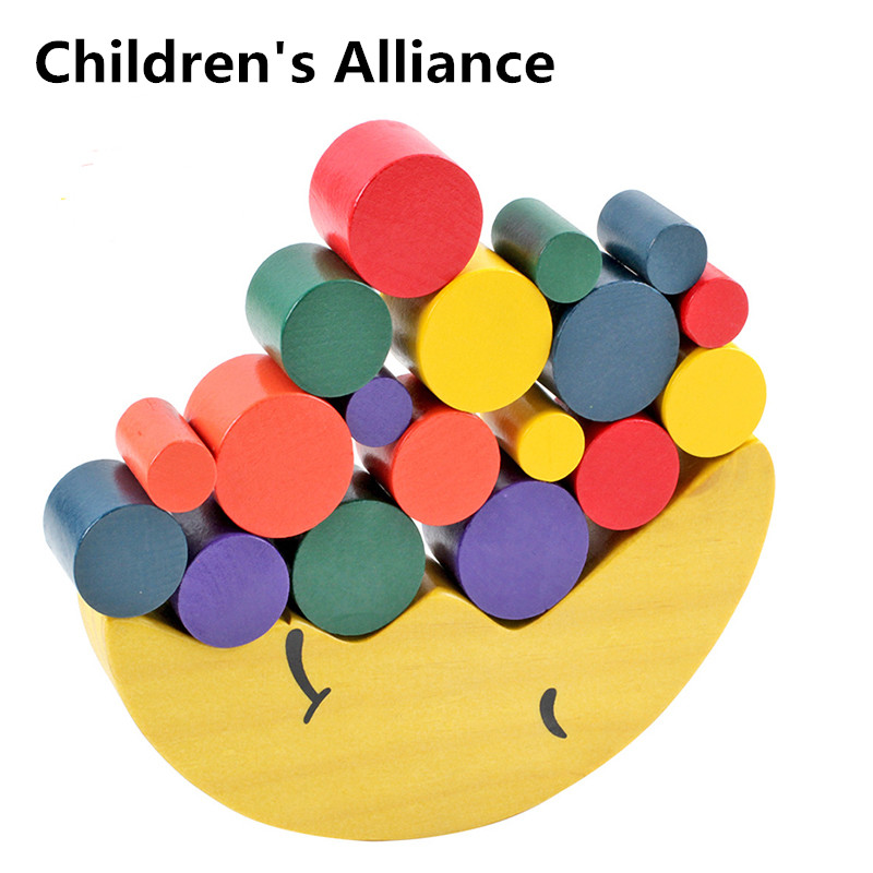 Kids Wooden Toys Moon Balancing Game Educational For Children Building Blocks Baby Balance