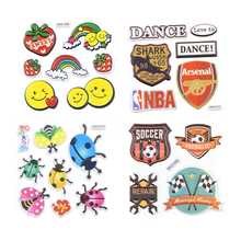 Cartoon Car Unicorn Animal Embroidery Patches For Clothing jeans DIY Iron On Clothes Camera Fruit Patch Custom