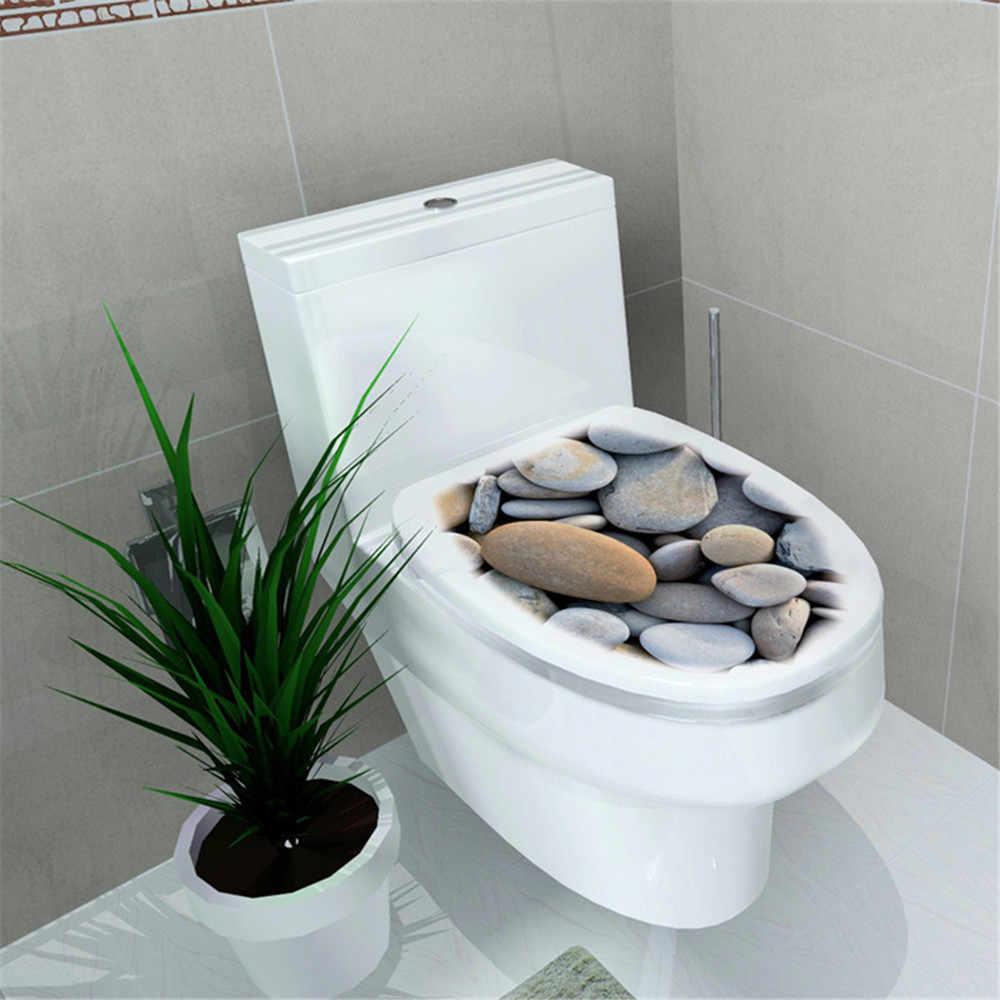Naklejka WC podwyższenie do toalety naklejka na pokrywę stołek do toalety komoda naklejka dekoracja wnętrz Bathroon Decor 3D nadruk kwiat widok 32*39cm