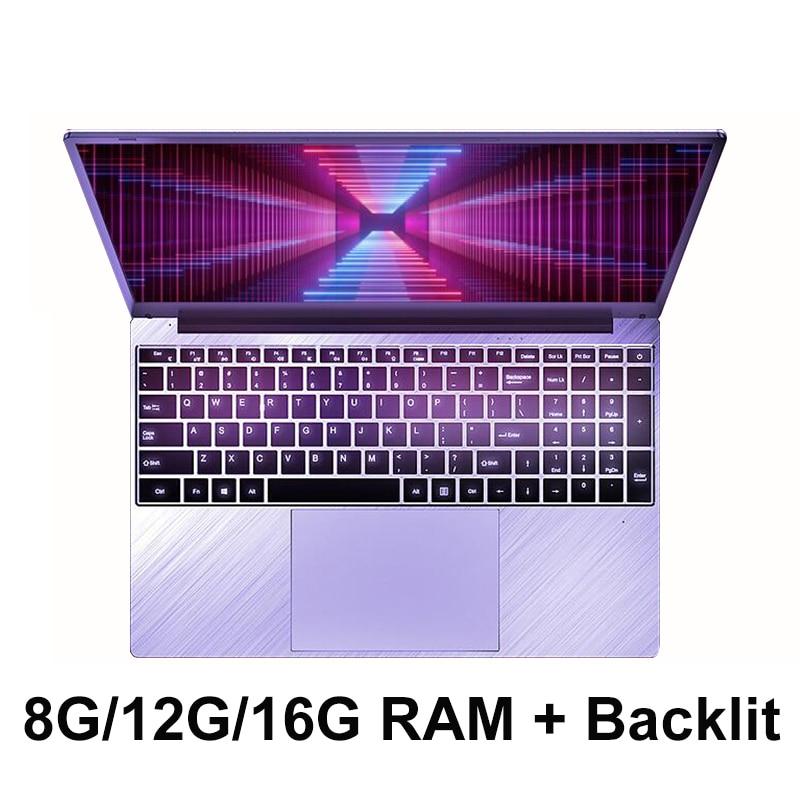 15,6 дюймов 8 Гб 12 Гб 16 Гб ОЗУ 1 ТБ/512 ГБ/256 ГБ/128 Гб SSD ПЗУ с клавиатурой с подсветкой 1920*1080 IPS экран windows 10 ноутбук