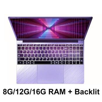 15.6 inch 8G 12G 16G RAM 1TB/512G/256G/128G SSD ROM With Backlit Keyboard 1920*1080 IPS Screen windows 10 Laptop
