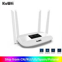 Router Wireless 4G LTE sbloccato KuWFi Router CPE Wireless interno 300Mbps antenne 4 pezzi con porta LAN e Slot per scheda SIM fino a 32 utenti