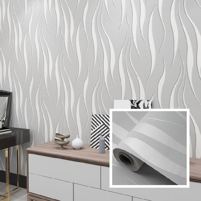 Papel tapiz 3D de lujo moderno no tejido papel de pared autoadhesivo a rayas para decoración del hogar decoración de la pared del dormitorio de la sala de estar, 3M-10M