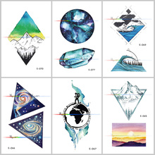 1PCS Waterproof Planet Temporary Tattoo Stickers Original Simple Cosmic Ecology Fake Tattoo Stickers for Women original 1pcs egl16 12