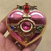 Косплэй Сейлор Мун Цукино Усаги шкатулка для украшений в форме сердца Луна макияж пудра корпус базового блока пудра Make up зеркальная коробка