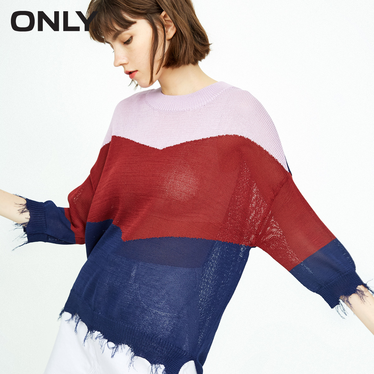 ONLY Autumn New Loose Vintage Three-quarter Sleeve Sweater Women   |  118324509