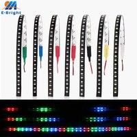Tira de luces LED para decoración de coche, luces flexibles de 12V, color azul, verde, rojo, blanco, amarillo, rosa, RGB, 1210, 32 SMD, 30CM, 50 Uds.
