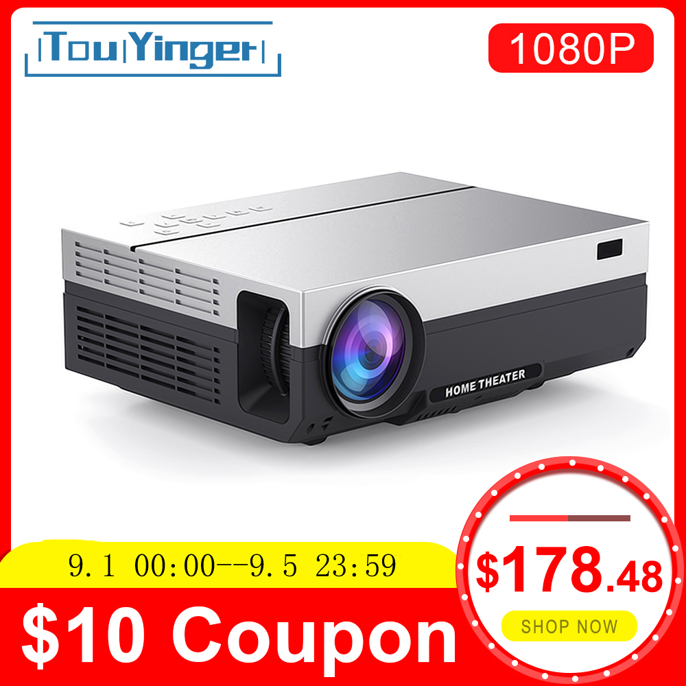 Touyinger Home Cinema Beamer Native 1080p Projector T26L Video-5500 HDMI Android Lumen