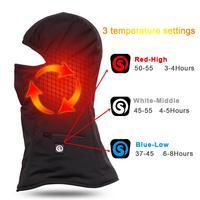 Outdoor sports heating mask warm motorcycle mask warm winter ski snowboard hood police bicycle headband warm mask