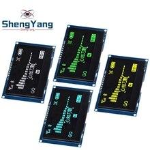 """ShengYang beyaz sarı 2.42 """"2.42 inç LCD ekran 128x64 OLED ekran modülü IIC I2C SPI seri c51 STM32 SPD0301"""