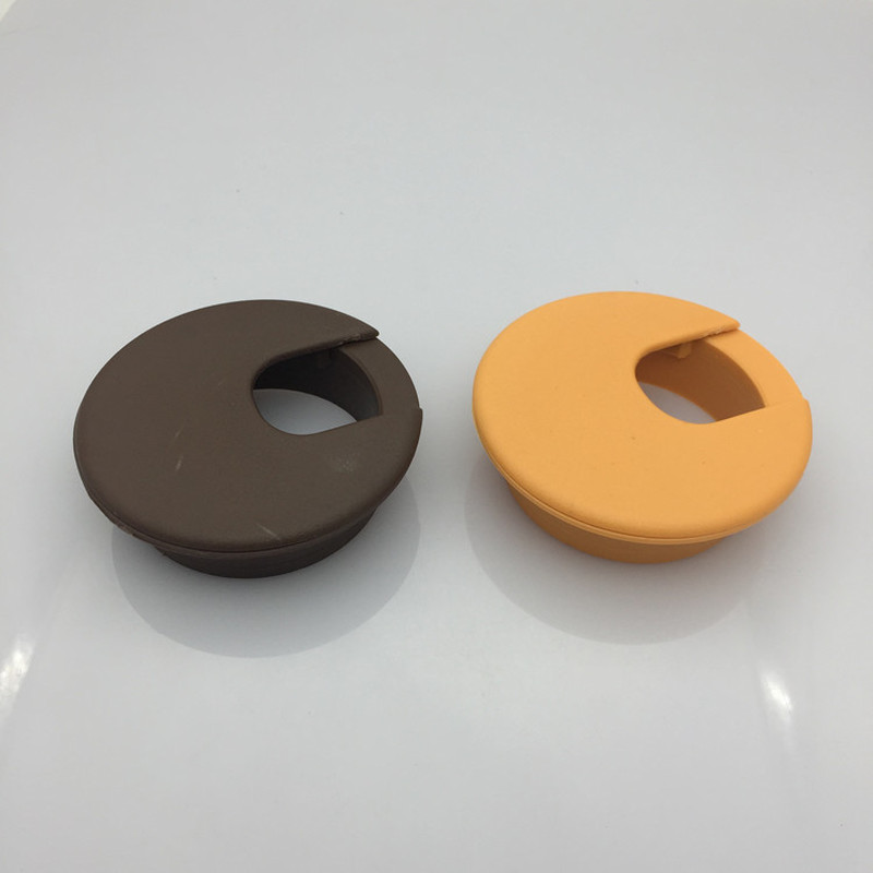 2pcs Plastic Pc Desk Wire Hole Cover Base 35mm Round Table Cable Outlet Port Grommet Protector Line Organizer Furniture Hardware