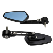 For BMW G310GS S1000R DUCATI KAWASAKI Motorcycle Rearview Side Mirror Modified CNC Aluminum Handle End Mirror Handle Mirrors