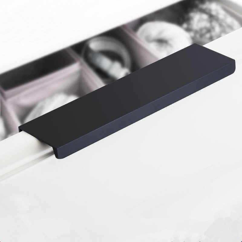 pomos para armario acero inoxidable LS201BK negro manijas de armario de cocina para armarios o puertas de ba/ño Tiradores negros para armario 96mm hole centres pomos de caj/ón