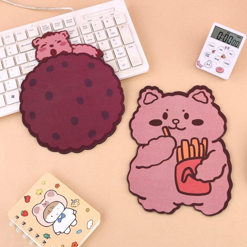 Japanese Cute Cartoon Bear Mouse Pad Rubber Mouse Mat Coaster Office Cute Animals Desk Pads Kawaii Table Decor