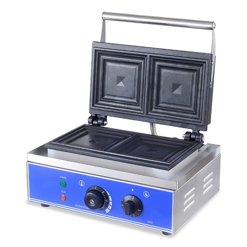 Электрическая вафельница, железная сэндвич машина, железная форма для выпечки, печь, машина для завтрака, тостов, 220 В, 110 В, кухонное оборудование - 6