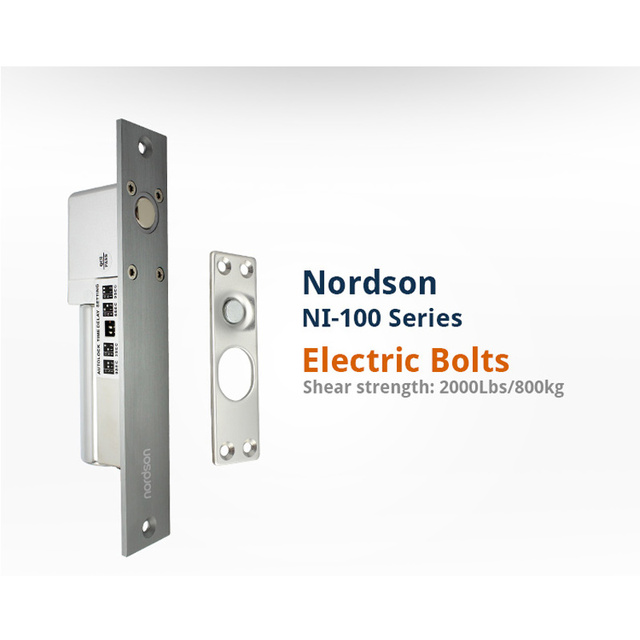 Nordson Original DC12V/24V High Aluminum Fail Safe 4PIN Electic Bolt Door Lock With Auto-lock Time Delay Embedded-mounted Lock