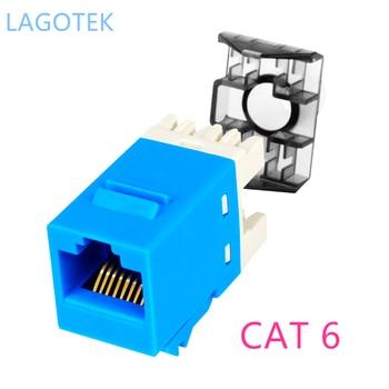 цена на 10pcs/lot  Gigabit CAT6 UTP RJ45 Connector CAT6 Module Information Socket Computer Outlet Network Cable Adapter Keystone Jack