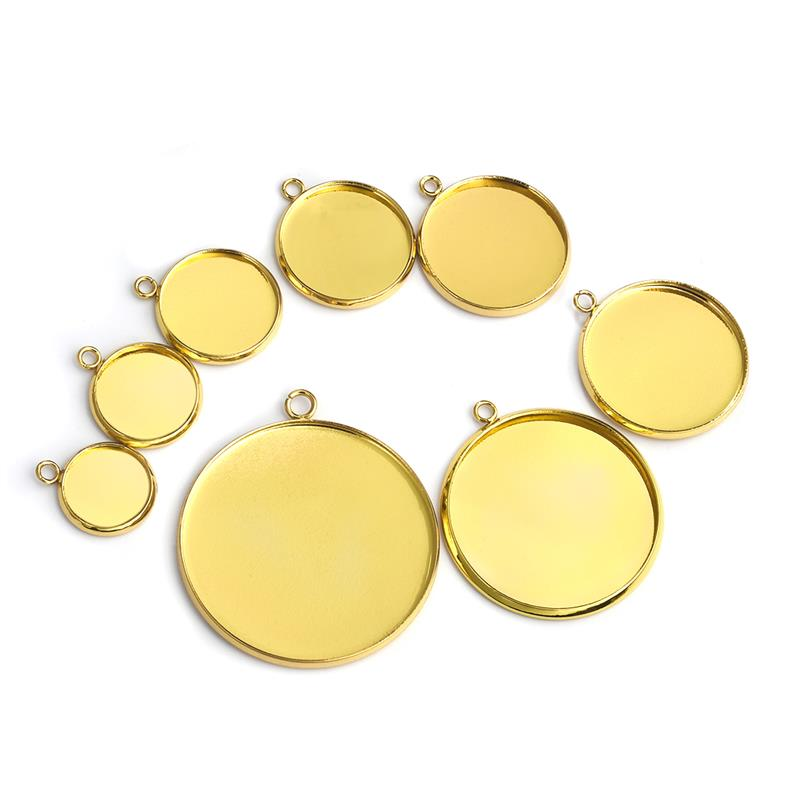 Oval Zinc Alloy Pendant trays fit 18x25mm Cabochon Setting Blanks 20 pcs
