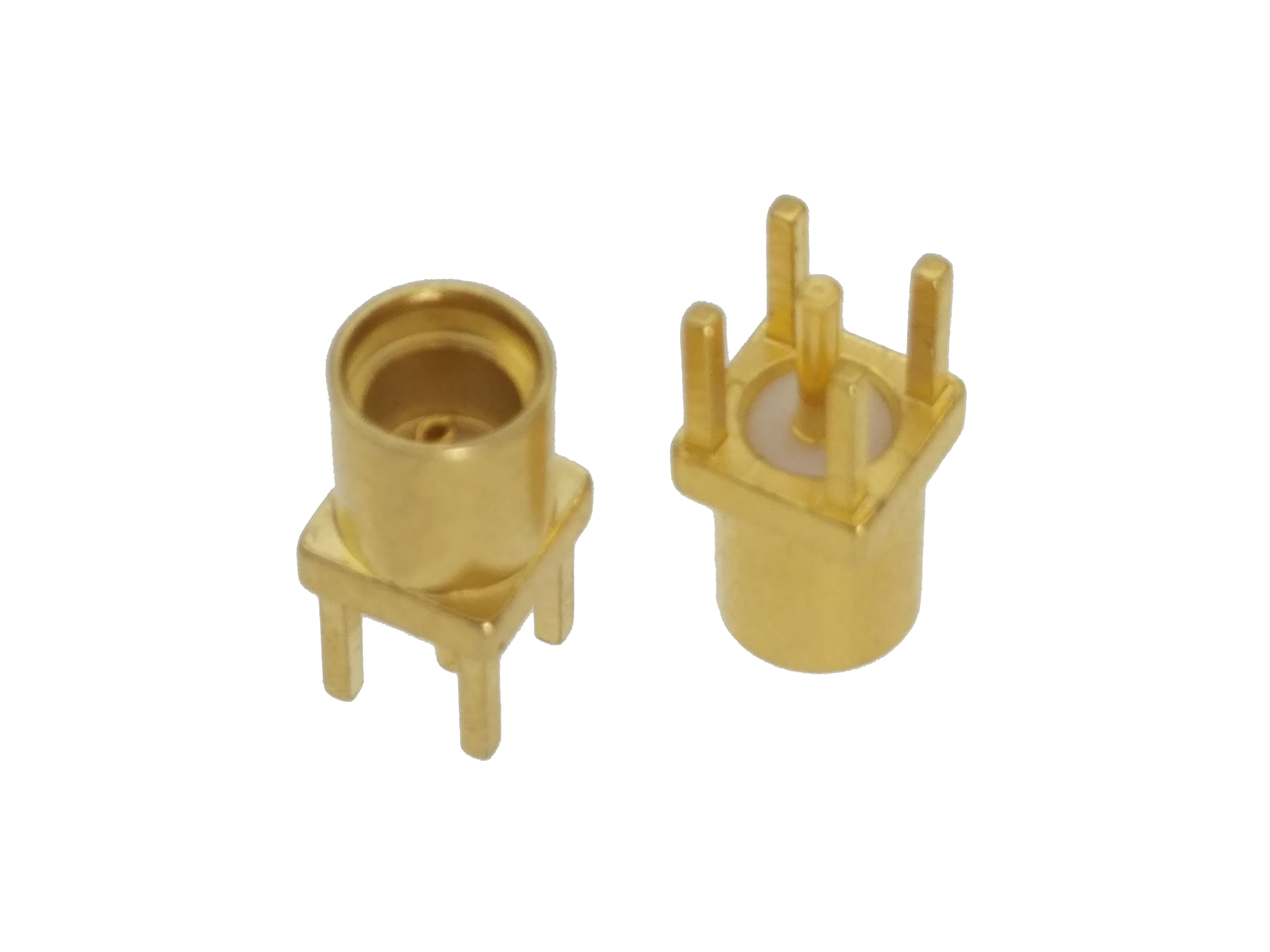 Connector MMCX Female Jack Solder PCB Mount Straight RF COAXIAL