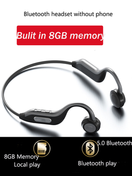 Bulit-in 8GB 5.0 Bluetooth Wireless Headphones Bone Conduction earphone outdoor sport Waterproof earphones with with Microphone