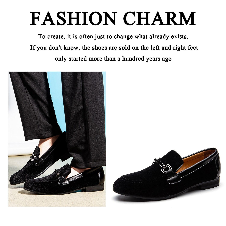 SALE 50%] ❤️ MEIJIANA menn loafers svart fløyel med  ❤️ MEIJIANA Men Loafers Black Velvet With