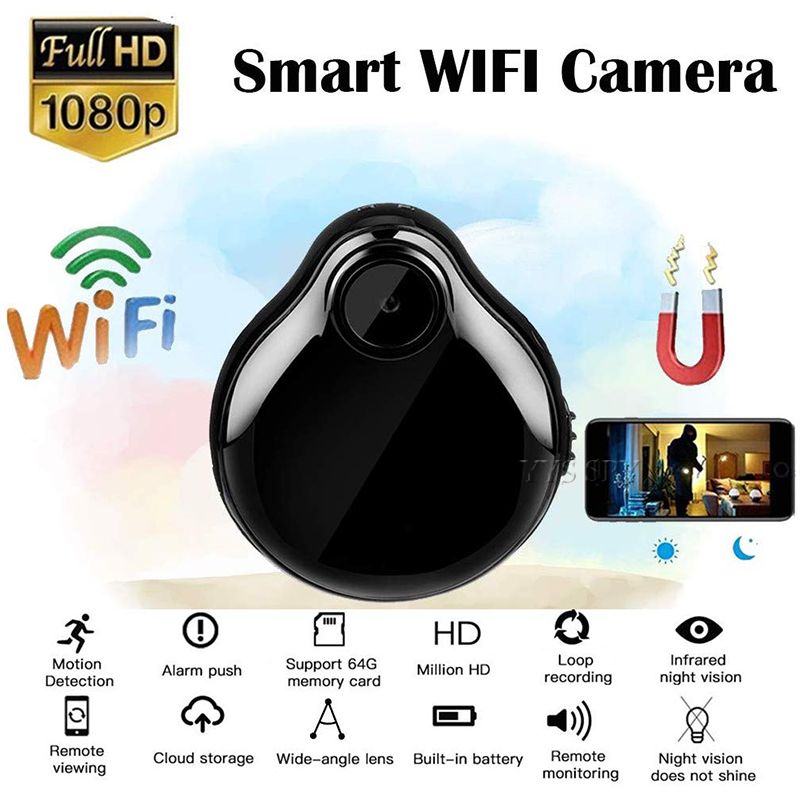 Wifi Mini Camra Espia Video Kamera Water Droplets Style Micro Camara Small Action IP Security Camcorder Support Hidden SD Card(China)