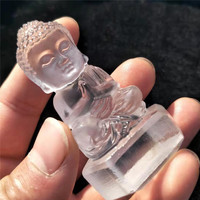1pc 60mm 70mm hand carved Natural clear quartz Crystal Stones Buddha belief encarving statue character sculpture for sale
