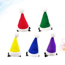 5PCS Mini Christmas Hat Hairpin Christmas Hair Clips Hat Grips Party Hair Accessories for Kids Teens Toddlers