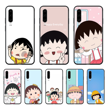 Chibi Maruko-chan Anime little girl Phone case For Huawei P 30 10 20 40 Lite Smart Z Pro 2019 black waterproof 3D back soft image
