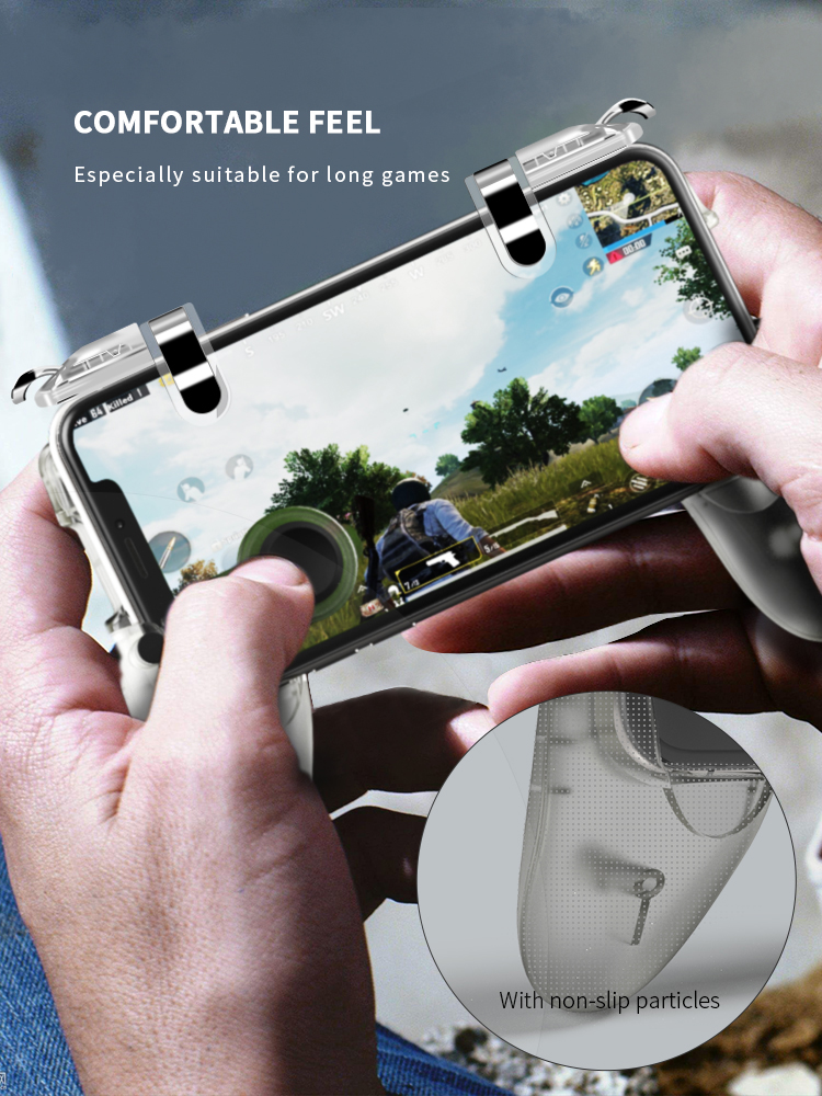 Data Frog Portable Gamepad Mobile Controller with Four Finger Operation Mode and Two Triggers for PUBG 10