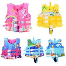 Jacket Swimsuit Life-Vest Floating Swimming-Pool-Safety-Equipment Sunscreen for Girls