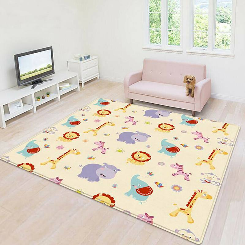 200*180CM  Portable Cartoon Children Double-sided Folding Crawling Mat Thickened Baby Indoor Outdoor Crawling Pad Play Mat