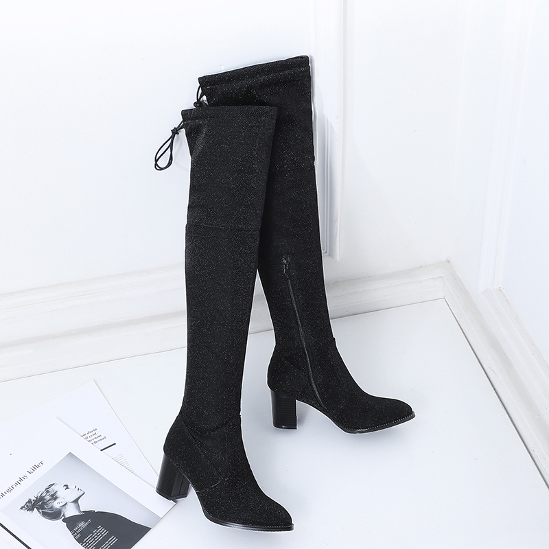 2021 moda glitter inverno quente sapatos mulher