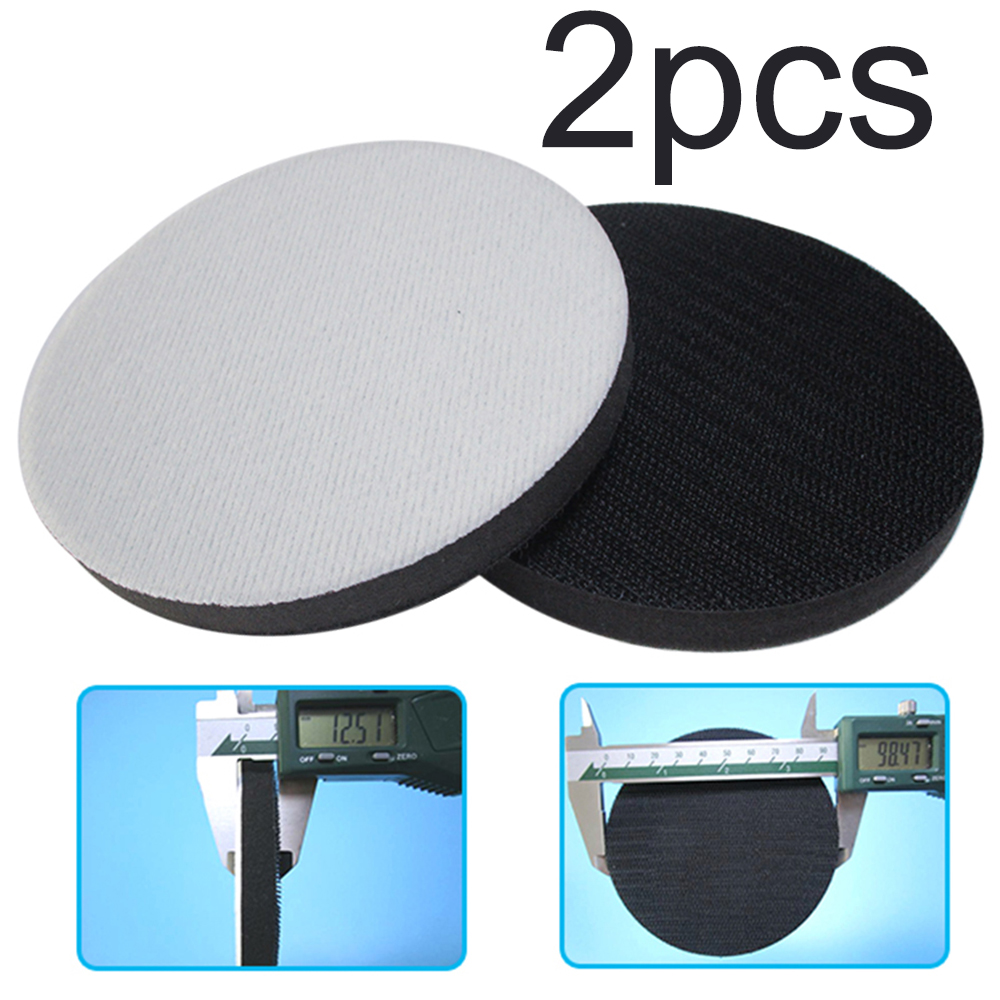 2PCS 4 Inch Soft Sponge Interface Pads For Back-up Sanding Pad And Hook Loop Grinding Discs For Irregular Surface Polishing
