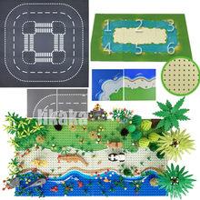 Şehir yol sokak taban plakası taban plakası çim nehir deniz adası klasik oyuncak inşaat blokları 32*32 nokta tuğla 32x32 taban Placas