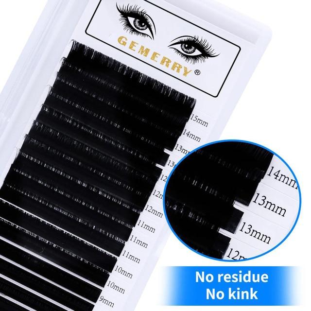 16Rows Individual Eyelash Extension Faux Cils Mink False Eyelashes Artificial lashes For Makeup Supplies HandMade Natural Lash 5