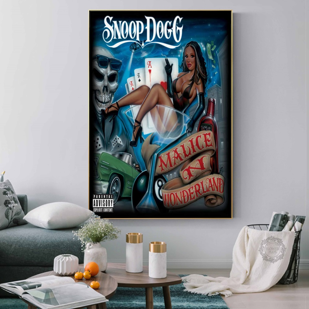 Snoop Dogg Doggystyle Tha Doggfather Neva Left Hot Albums Music Rap Hip Hop Art Painting Silk Canvas Poster Wall Home Decor image
