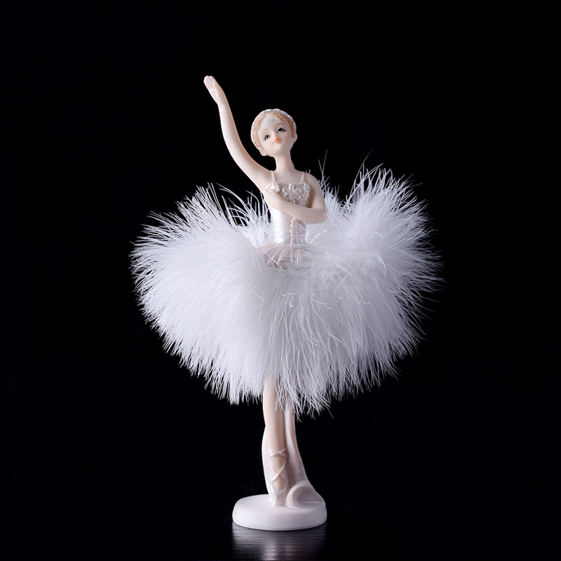 Ballet Girl Doll Ornaments font b Kawai b font Arts and Crafts resin fairy garden miniatures
