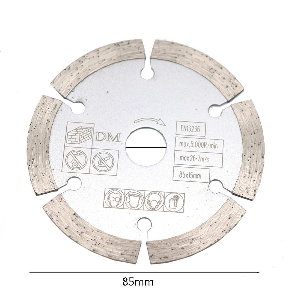 1pcs 85 Mm 10mm/15mm  Mini Circular Saw Blade Wood Cutting Blade For Concrete Slotting Dry Cut Marble