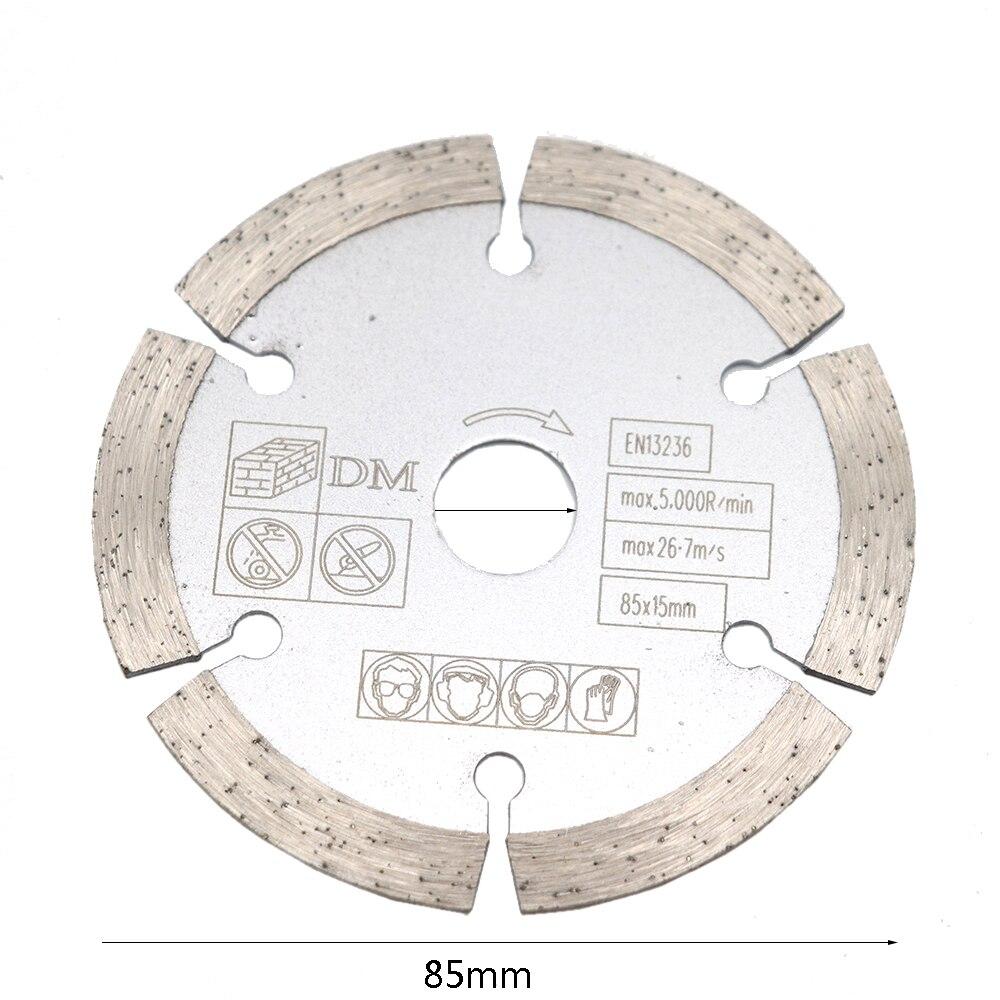 1pcs 85 Mm 10mm/15mm  Mini Circular Saw Blade Wood Cutting Blade For Concrete Slotting Dry Cut Marble