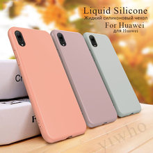 for Huawei Honor 9 Lite 20 Mate 10 Pro P10 Plus 8 Lite I X View P30 P20 Light Liquid Silicone Case Soft Cover Honer Phone Cases(China)