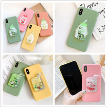 Liquid Phone Case For Xiaomi Redmi Note 4 4X 5 Prime 5A Plus 6 Pro 6A S2 Y2 7 GO Avocado Fruits bottle Soft Silicone Candy Cover(China)