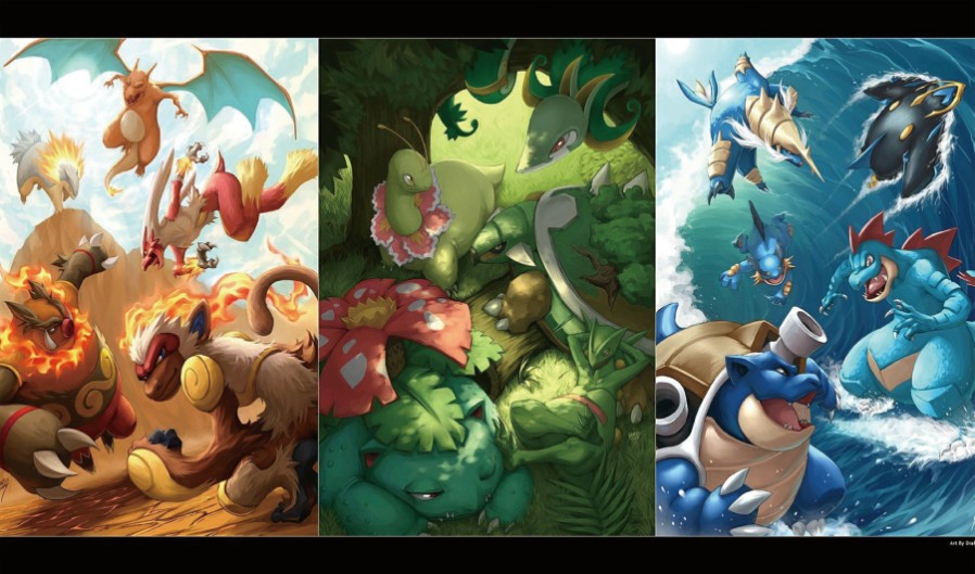 Takara Tomy PTCG Accessories Pokemon Playmat Card Table Game Venusaur Blastoise Totodile Torchic Toys For Children