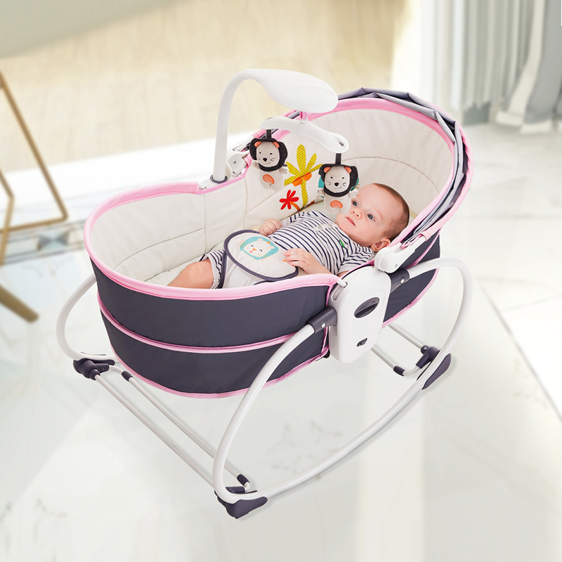 Hc024cc4844d5450b8498d6fe99698398C Baby electric baby cradle vibration crib in bed rocking chair can do shaker recliner basket three functions optional