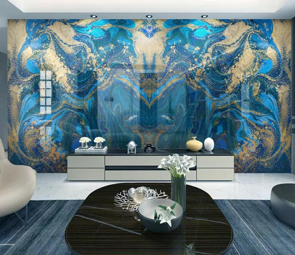 Beibehang Custom Modern Wallpaper Classic Gold Fluid Abstract Marbled Background Papel De Parede Wall Papers Home Decor