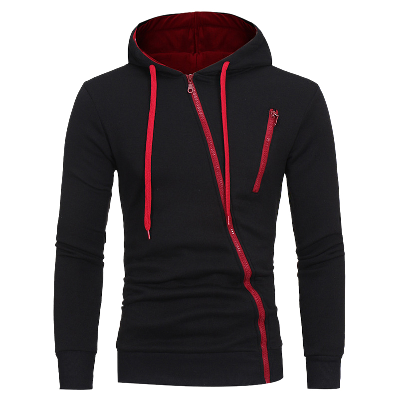 DIHOPE New Hoodies Men 2021 Autumn Casual Long Sleeve Hoodie Men Sweatshirts Slim Zipper Hoody Men Hooded Streetwear 1