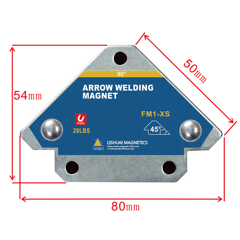 LISHUAI Mini Size Arrow Welding Magnet Holder/Triangle Permanent Magnetic Welding Clamp/45/90/135 Angle Positioner FM1 XS Magnetic Materials Home Improvement - title=