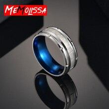 Мужское серебряное кольцо из титана с начесом, синее высокополированное обручальное кольцо, обручальные кольца для женщин, модные мужские ювелирные изделия, подарок