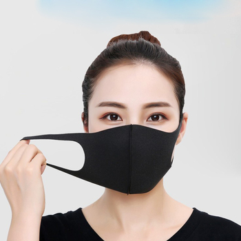 100pcs Fashion Face Mouth Mask Anti Dust Mask Filter Windproof Mouth-muffle Bacteria Proof Flu Face Masks Care Reusable Washable