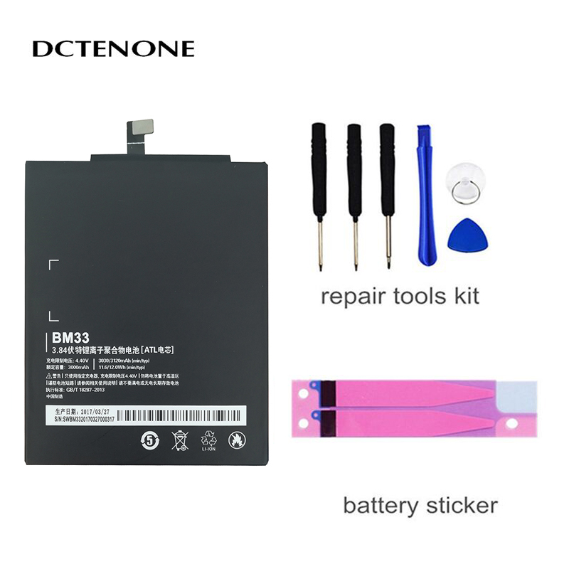 DCTENONE Phone <font><b>Battery</b></font> BM33 For Xiao <font><b>mi</b></font> <font><b>4i</b></font> <font><b>Battery</b></font> celular smartphones Xiao <font><b>mi</b></font> <font><b>Battery</b></font> Replacement Batteria 3120mAh image